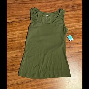 Just Be Women's Ribbed Tank Top Size 2X